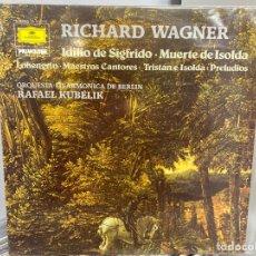 Discos de vinilo: WAGNER / ORQUESTA FILARMÓNICA DE BERLIN, RAFAEL KUBELIK - IDILIO DE SIGFRIDO (LP, ALBUM). Lote 297071418