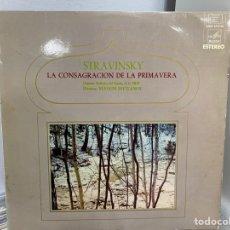 Discos de vinilo: STRAVINSKI - YEVGENI SVETLANOV - LA CONSAGRACIÓN DE LA PRIMAVERA (LP, ALBUM). Lote 297071998