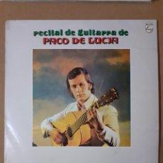 Discos de vinilo: PACO DE LUCÍA. RECITAL DE GUITARRA. 1975. 63 28 036. ED. CÍRCULO DE LECTORES. DISCO VG+ CARÁTULA VG. Lote 297072553