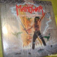 Discos de vinilo: BEST OF MANOWAR. THE HELL OF STEEL. ATLANTIC, 1994. (#). Lote 297074018