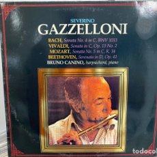 Discos de vinilo: SEVERINO GAZZELLONI - BACH / VIVALDI / MOZART / BEETHOVEN - BRUNO CANINO (LP, ALBUM). Lote 297074418