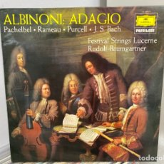 Discos de vinilo: ALBINONI · RAMEAU ·PURCELL · BACH - ALBINONI ADAGIO (LP, ALBUM). Lote 297074923