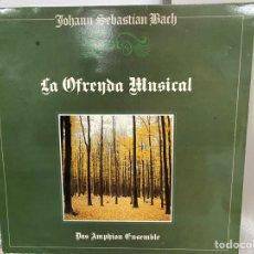 Discos de vinilo: BACH, DAS AMPHION ENSEMBLE - LA OFRENDA MUSICAL, BWV 1079 (LP, ALBUM). Lote 297075303