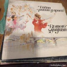 Discos de vinilo: ROMERO SANJUAN. TRIANA PUENTE Y APARTE LP. Lote 297075968