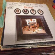 Discos de vinilo: CANTORES DE HÍSPALIS & ROYAL PHILHARMONIC ORCHESTRA – DANZA. Lote 297076123
