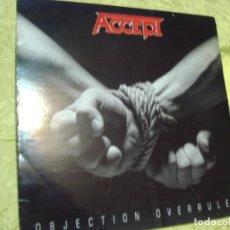 Discos de vinilo: ACCEPT. OBJECTION OVERRULED. RCA, 1993. . (#). Lote 297078413