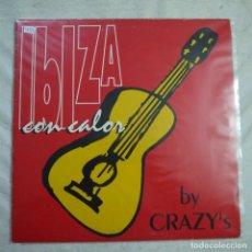 Discos de vinilo: CRAZY'S - IBIZA CON CALOR - MAXISINGLE 1994. Lote 297078443