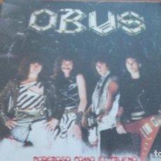 Discos de vinilo: OBUS PODEROSO COMO EL TRUENO LP CON INSERTO. Lote 297078643