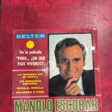 Discos de vinilo: MANOLO ESCOBAR SINGLE EP DE 1967. Lote 297079468