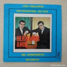 Discos de vinilo: HERMANOS ANOZ - LOS 4 MULEROS +3 - MUY RARO EP ZAFIRO DEL AÑO 1965 EN EXCELENTE ESTADO. Lote 297079528