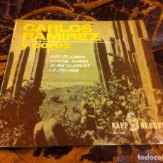 Discos de vinilo: SINGLE / EP. CARLOS RAMÍREZ Y COROS. ALMA LLANERA. CIELITO LINDO. 1964. Lote 297080458