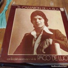Discos de vinilo: EL CAMARÓN DE LA ISLA, CON LA COLABORACIÓN ESPECIAL DE PACO DE LUCIA LP. Lote 297080558