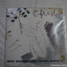 Discos de vinilo: ORFEÓ BADALONÍ - COBLA JUVENIL MARINADA - OFRENA - LP 1984. Lote 297081453