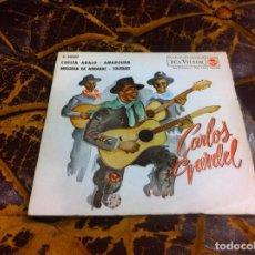 Discos de vinilo: SINGLE / EP. CARLOS GARDEL. CUESTA ABAJO. AMARGURA. MELODÍA DEL ARRABAL. SOLEDAD. 1962. Lote 297082733