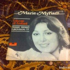 Discos de vinilo: SINGLE / EP. MARIE MYRIAM. L'OISEAU ET L'ENFANT. ON GARDE TOUJOURS. 1977. Lote 297086763