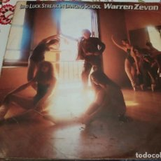 Discos de vinilo: WARREN ZEVON – BAD LUCK STREAK IN DANCING SCHOOL.1980. ASYLUM RECORDS – AS 52 191, VG+ / VG. Lote 297090283