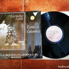 Discos de vinilo: CARMIÑA GALLO CANTA A COLOMBIA & ORQUESTA BOGOTA LP VINILO AÑO 1981 COLOMBIA CONTIENE 10 TEMAS. Lote 297102683