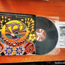 Discos de vinilo: SIERRA CENTRAL 1 ANTOLOGIA DE LA MUSICA POPULAR PERUANA VOL 1 LP DEL AÑO 1982 PERU FOLLETO 15 TEMAS. Lote 297103173