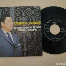 Discos de vinilo: ATAHUALPA YUPANQUI - LE TENGO RABIA AL SILENCIO / GUITARRA DÍMELO TU - SINGLE RCA DE 1968 COMO NUEVO. Lote 297104958