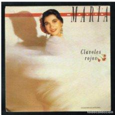 Discos de vinilo: MARIA MARIA - CLAVELES ROJOS / EL POTRO DEL TORMENTO - SINGLE 1990 - PROMO. Lote 297105808