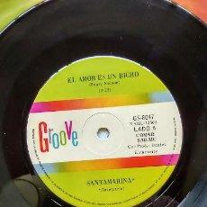 Discos de vinilo: SANTAMARINA ( HENRY NELSON) EL AMOR ES UN BICHO / EL DIABLO. Lote 297110993