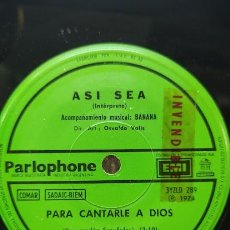 Discos de vinilo: ASI SEA - PARA CANTARLE A DIOS / NO HACE FALTA MUCHACHA SIMPLE ARGENTINO 1974. Lote 297113033