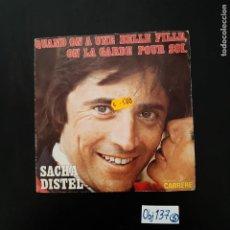 Discos de vinilo: SACHA DISTEL. Lote 297114533
