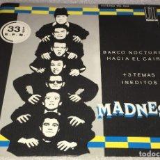 Discos de vinilo: EP PROMOCIONAL MADNESS - BARCO NOCTURNO HACIA EL CAIRO Y OTROS TEMAS - STIFF 1941 -PEDIDO MINIMO 7€. Lote 297116288