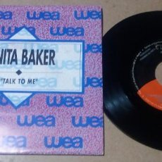 Discos de vinilo: ANITA BAKER / TALK TO ME / SINGLE 7 PULGADAS. Lote 297149173