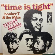 """Discos de vinilo: BOOKER T & THE MG'S - TIME IS TIGHT (7"""", SINGLE) (STAX) SN-20258. Lote 297154718"""
