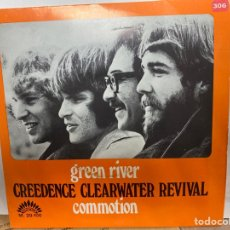 """Discos de vinilo: CREEDENCE CLEARWATER-REVIVAL - GREEN RIVER / COMMOTION (7"""", SINGLE). Lote 297160098"""