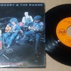 Discos de vinilo: BRUCE HORNSBY & THE RANGE / ACROSS THE RIVER / SINGLE 7 PULGADAS. Lote 297161108