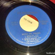 Discos de vinilo: LOS TROPICALES VUELO 502/JUANITA BANANA/LA BANDA BORRACHA/MARGARITA EP 7'' 1966 FUNDADOR 10106. Lote 297163663
