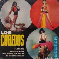 Discos de vinilo: LOS CUBEDOS. EL POROMPOMPERO + 3 TEMAS. EP ORIGINAL ESPAÑA 1965. Lote 297182013