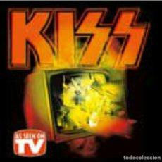 Discos de vinilo: KISS AS SEEN ON TV 2-LP LIVE TV PERFORMANCES FROM 74-94 GREEN VINYL. Lote 297186453