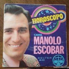 Discos de vinilo: SINGLE MANOLO ESCOBAR. PEDIDO MINIMO 3 EUROS.. Lote 297242603