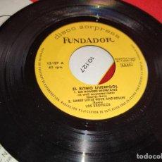 Discos de vinilo: LOS EXOTICOS UN HOMBRE RESPETABLE/SWEET LITTLE ROCK AND ROLLER +2 EP 7'' 1967 FUNDADOR 10127. Lote 297352318