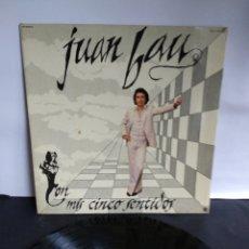 Discos de vinilo: JUAN BAU, CON MIS CINCO SENTIDOS, 1978. Lote 297363583