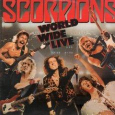 Discos de vinilo: SCORPIONS - WORLD WIDE LIVE / 2 LP'S EMI ODEON 1985 / BUEN ESTADO RF-10789. Lote 297363633