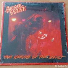 Discos de vinilo: LP APRIL WINE NATURE OF THE BEAST CAPITOL PINK LABEL 1981 USA. Lote 297366573