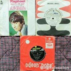 """Discos de vinilo: RAPHAEL- LOTE DE 3 VINILOS SINGLES 7"""" - EXCELENTE ESTADO ARGENTINOS. Lote 297371638"""