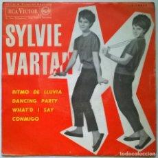 Discos de vinilo: SYLVIE VARTAN. RITMO DE LA LLUVIA/ DANCING PARTY/ WHAT'D I SAY/ CONMIGO. RCA, SPAIN 1963 EP. Lote 297394218