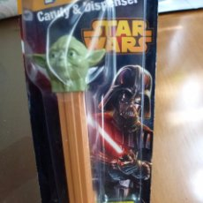 Dispensador Pez: DISPENSADOR PEZ YODA STAR WARS BLISTER SIN ABRIR. Lote 83021604