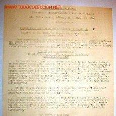 Documentos antiguos: DOCUMENTO DE LA EMBAJADA BRITÁNICA, MADRID, ENERO DE 1941. Lote 7645929