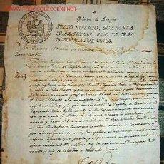Documentos antiguos: CERTIFICADO DE BAUTIZO. GOBIERNO DE ARAGÓN. SELLO QUARTO, QUARENTA MARAVEDIES, AÑO 1811.. Lote 15400189