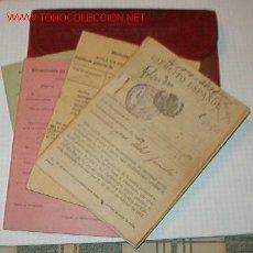 Documentos antiguos: CARTILLA MILITAR CON 4 DOCUMENTOS.. Lote 6036014