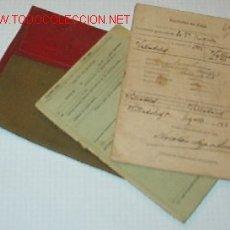 Documentos antiguos: CARTILLA MILITAR CON 2 DOCUMENTOS.. Lote 7854431