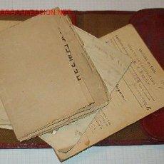 Documentos antiguos: CARTILLA MILITAR CON 2 LIBRETAS, 8 DOCUMENTOS Y DOCUMENTOS VARIOS.. Lote 5762268
