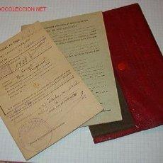 Documentos antiguos: CARTILLA MILITAR CON 2 DOCUMENTOS.. Lote 7776167