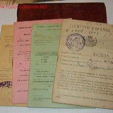 Documentos antiguos: CARTILLA MILITAR CON 4 DOCUMENTOS.. Lote 5556201